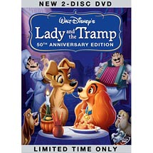 Blockbuster Movie Lady And The Tramp DVD